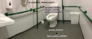 esempio di un bagno per disabili a norma che non garantisce Ospitalità Accessibile