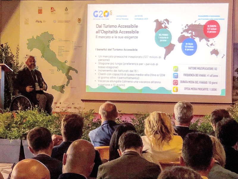 Turismo Accessibile o Ospitalità Accessibile - Roberto Vitali presenta al G20s Tool Kit Ospitalità Accessibile