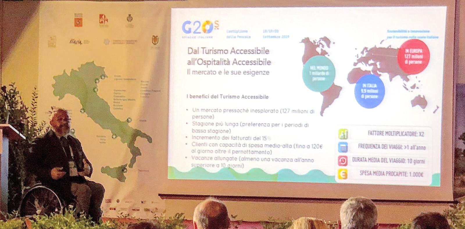 Roberto Vitali presenta il Tool Kit Ospitalità Accessibile al G20s