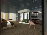 Vista d'interno della Suite accessibile di Hotel in Motion 2029
