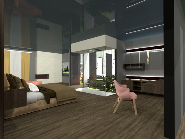 Vista d'interno della Suite accessibile di Hotel in Motion 2029